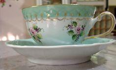 Xicara chá pintada à mão