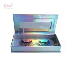 0e8292dcc69 Private Label Empty Holographic 1 Pairs False Eyelash Case Custom Lash  Packaging