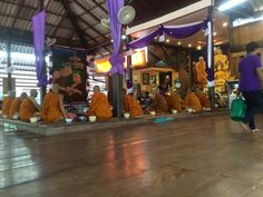Buddhist monks at Tiger Temple