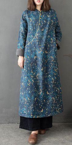 Vintage Cute Blue Maxi Cotton Linen Dresses Women Loose Cheongsam - Women's style: Patterns of sustainability Short Beach Dresses, Short Mini Dress, White Maxi Dresses, Linen Dresses, Maxi Dress With Sleeves, The Dress, Dresses Dresses, Dresses Online, Casual Dresses