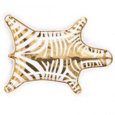 Jonathan AdlerAblageschale Carnaby Zebra, goldfarben