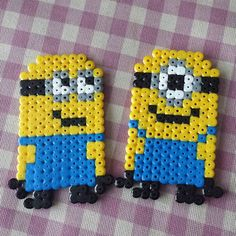 Minions Hama Beads, Beans Minion, Hama Beads Minion, Emoji Perler Beads, Hama Minions, Perler Beads Emoji, Perler Mites, Perler Bead Emoji, Craft Ideas