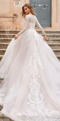 2020 Best Beautiful Lace Curvy Wedding Dresses – toolcloth dresses ball gown dresses boho dresses lace dresses princes dresses simple dresses vintage wedding dress with sleeves Boho Wedding Dress With Sleeves, Lace Dress With Sleeves, Sexy Wedding Dresses, Princess Wedding Dresses, Colored Wedding Dresses, The Dress, Bridal Dresses, Gown Wedding, Dress Lace