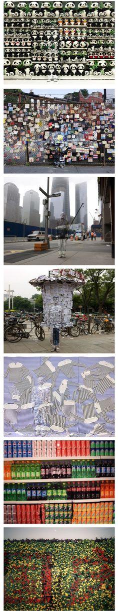 """Invisible Man, l'artiste chinois Liu Bolin présente actuellement une exposition de ses œuvres """"Lost in Art"""" à la Eli Klein Gallery située à New York. Revenant sur ses peintures le camouflant au milieu de la photo,"""