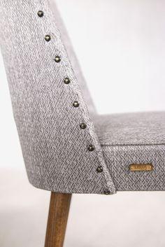 Krzesło muszelka. Lata 60. Chair design. Renowacja: Lekka Furniture