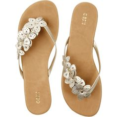 Cut Out Flower Toe Post Sandals, found on polyvore.com- Love these!