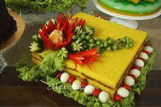 Vegetable Decoration, Food Decoration, Surprise Cake, Indonesian Food, Indonesian Recipes, Food Carving, Pastel, Good Fats, Food Art