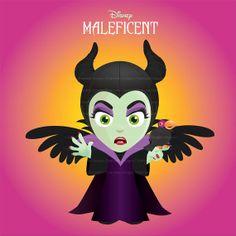 Disney - Maleficent - Princess Villain - Instant Download, Clipart, Printable