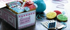 Knit one, sew one ... Biscuits from the uk.