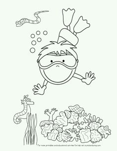 Are You Ready For Some Fun Kid Color Pages That All About The Ocean And Everything Is Under Sea