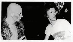 With David Bowie in London, 1973