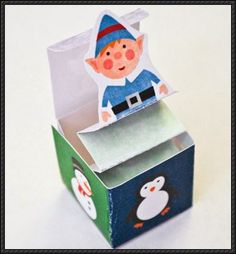 Christmas - Miniature Jack-In-The-Box Free Papercraft