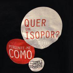 Camiseta da turma que distribuiu o isoporzknho da 11:21 pela noite do Rio.