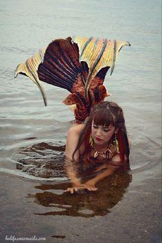 Mermaid Raina the Halifax mermaid silicone mermaid tail bt Merbella studios inc
