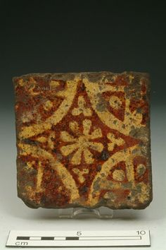 Floor tile, mid-late 14th century | Museum of London