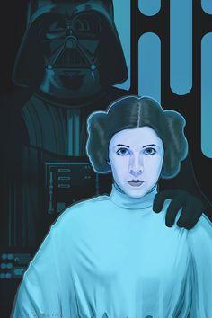 Leia...prisoner /by *strib #deviantART  #StarWars #art