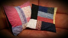 Quilted Cushion Covers - made by Agapantha - 2014
