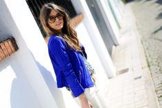 #ranitasobanska #fashion #inspirations blue neoprene
