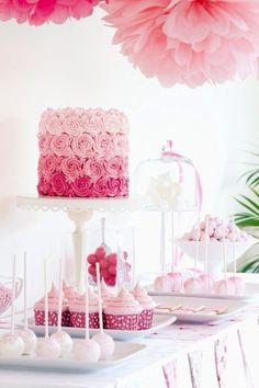 Pink Wedding Candy Bar
