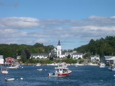 Boothbay Harbor.  I spent several summers in Maine.  Pristine and Picturesque.