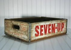 Vintage Pop Crate  /  Vintage Seven Up Wood Crate by HuntandFound
