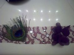 Brown Lace and Peacock headband by DoubleSRodeoCo on Etsy, $10.00