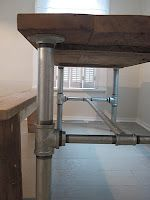 frugal farmhouse design: industrial table base tutorial