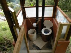 A compost toilet...
