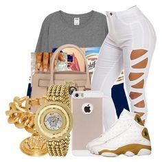"""""""Untitled #652"""" by chynaloggins ❤ liked on Polyvore featuring MICHAEL Michael Kors and Versace"""