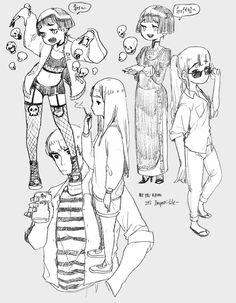 박리노[리노참치] 아틈 강사 Drawing Reference Poses, Drawing Skills, Drawing Poses, Moe Manga, Manga Art, Character Design References, Character Art, Art Sketches, Art Drawings