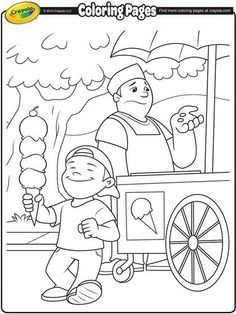 Ice cream time! Color in your favorite flavors.