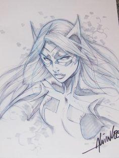 Huntress - Alvin Lee Comic Art
