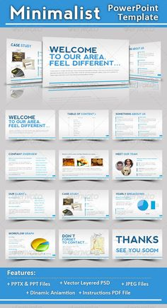 Powerpoint agency personal presentation template fonts download minimalist powerpoint template toneelgroepblik Images