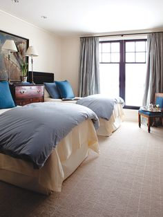 Menswear-Inspired Guest Room