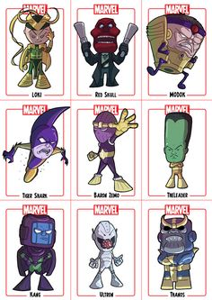 Chibi - Avengers Villains by *Juggertha on deviantART