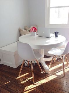 Small Space Design - Home Decorating Solutions - Good Housekeeping - Dining Corner Banquette - Dining Corner, Corner Dining Nook, Small Dinning Room Table, Small Corner Table, Small Dining Area, Small Dining Table Apartment, Corner Booth Kitchen Table, Ikea Small Apartment, Small Living Dining