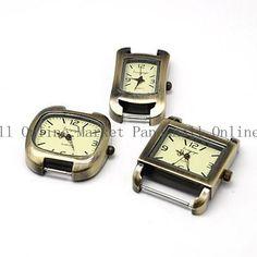 Alloy ciferník Hodinky Head hodinky Komponenty zmiešanom štýle Antique Bronze zmiešanom štýle 10 ks / lot