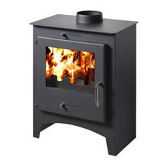 POD Sixteen - 8 kW Stove - The Pod Sixteen has a steel body giving a maximum of 11kw of heat with a nominal output of 8kw. A contemporary design with a large ceramic glass window gives an excellent view of the fire, the stove is available in matt grey. Internally it's fully lined with firebricks.   The Pod Sixteen is certified to BS EN13240 and comes with a 2 year warranty.