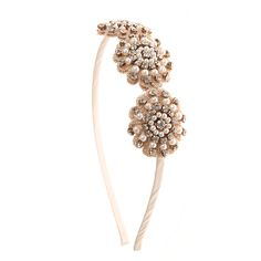 Neutral, Crystal and Pearl Flower Headband