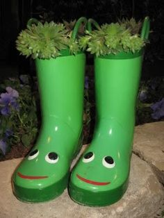 Recycled rain boots | Boots in the garden | Pinterest | The o&39jays