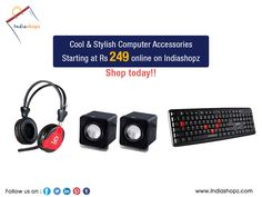 Cool & Stylish computer accessories starting at Rs 249 online on Indiashopz.  Shop today!!