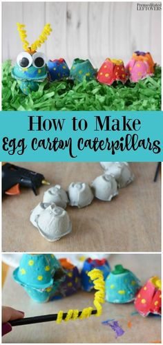 How to Make an Egg Carton Caterpillar - This caterpillar craft is a fun, frugal craft for kids and a great way to reuse an egg carton!