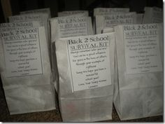 Back to School Survival Kit and back to school breakfast idea