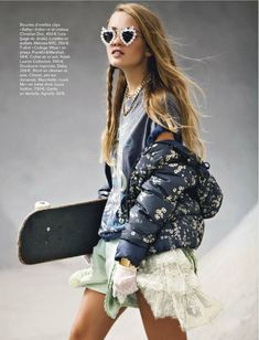 hearts - visual optimism; fashion editorials, shows, campaigns & more!: urbaine degaine: romee trouw by virgili jubero for glamour france january 201...