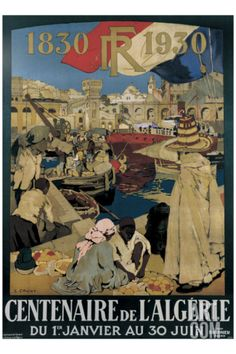 Centenaire en Algerie Giclee Print by Leon Cauvy at Art.com