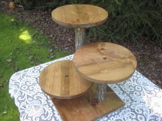 Rustic Cupcake Stand, Rustic Cake Stand, Rustic Wedding, Log Cupcake Stand, Cake Stand, Cupcake Stand, Wood Cupcake Stand, Dessert Stand  PLEASE READ BEFORE ORDERING! We are now on a 3-4 week turnaround time to get orders shipped out. If you need something sooner, you can convo us, and we will see what we can do. ThIs would be quite the impressive piece on your dessert table. Natural logs are cut from felled trees Rough pine is stained a warm color, giving it a most impressive rustic…