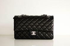 Chanel Classic Flap Bag Black Silver Hardware Lambskin Fashionblog Dress & Travel
