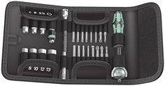 "Wera Tools 26Pc Zyklop Ratchet ¼"" Socket and Bit Set with pouch (Metric) #DIY"