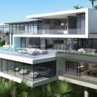New modern mansions floor plans back two - architecture plan Dream Home Design, Modern House Design, Dream Mansion, Mansion Houses, Luxury Homes Dream Houses, Dream Homes, Modern Mansion, Dream House Exterior, Home Fashion