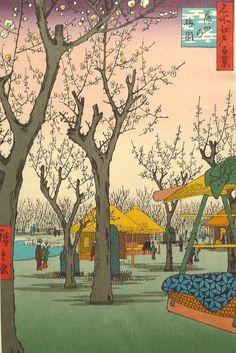 Japanese Ukiyo-e Woodblock print Hiroshige Plum by UkiyoeSalon